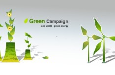 Green ECO World Campaign Green Energy Vector 05