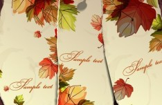Hand Painted Autumn Maple Leaves Background Vector 04