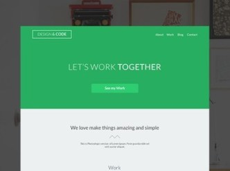 Light Green Flat Web Template PSD