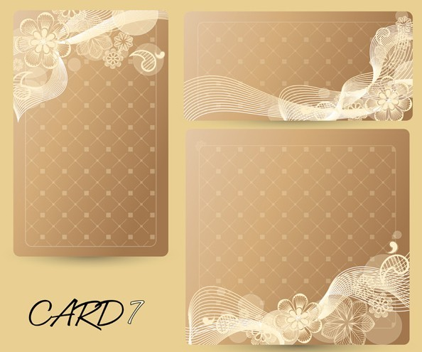 free set of vector sweet champagne cards with flowers
