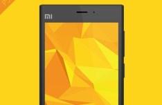 Flat Xiaomi 3 Cell Phone PSD Mockup