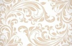 Light Brown Floral Swirls Pattern Vector