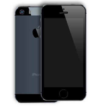 Black iPhone 5S Mockup PSD (Front and Back)