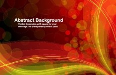 Bright Red Abstract Background Vector 03