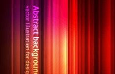 Bright Red Stripes Background Vector