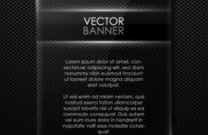 Glossy Transparent Black Banner Vector