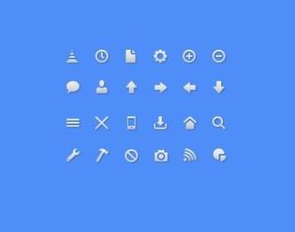 24 Minimal Grey Web Icon Set PSD