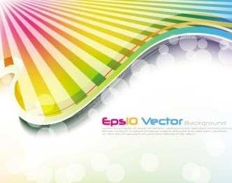 Fantastic & Colorful Abstract Background Vector 02