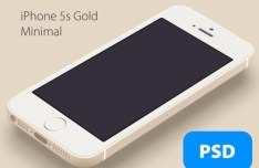 Minimal Gold iPhone 5S PSD Mockup