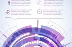Purple Futuristic Abstract Background Vector