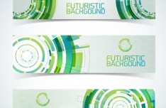 Set Of Vector Futuristic Banners 02