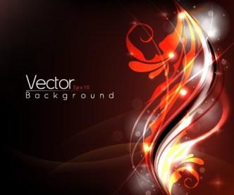 Shining Flourish Floral Background Vector 01