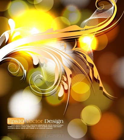 Shining Flourish Floral Background Vector 05