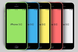 iPhone 5C PSD Mockups 01