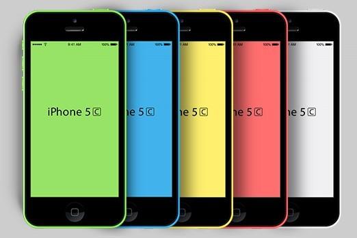 iPhone 5C PSD Mockups 01