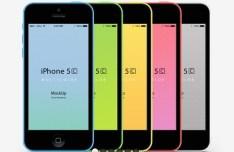 iPhone 5C PSD Mockups 02