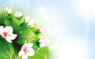 Pink Flowers Under The Sunlight Vector Background