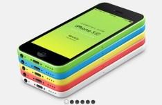 iPhone 5C 3D View Mockup PSD
