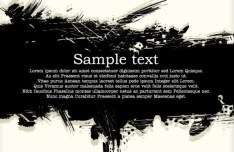 Black Splashed Ink Grunge Background Vector 01