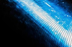Blue Technology Glowing Mosaics Background Vector