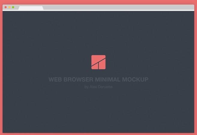 Flat Minimal Chrome Browser Mockup PSD