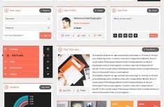 Flatty UI - Flat Web UI Kit PSD