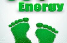Green ECO Concept Grass Footprint Vector