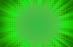 Green Radial Lights Background Vector 01