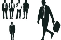 Modern City Man Silhouettes Vector 01