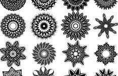 Set Of Vector Black Tribal Patterns