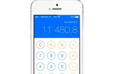 iOS 7 Calculator GUI PSD