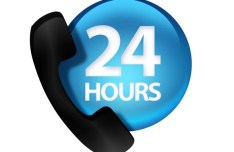 24 Hours Customer Service Icon PSD