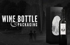 Wine Bottle & Packaging Mockup PSD