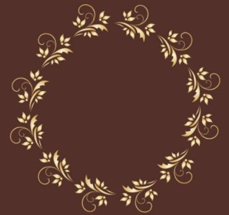 Gold Royal Floral Frame Vector 01