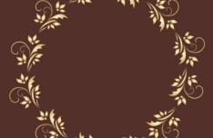 Gold Royal Floral Frame Vector 01