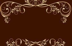 Gold Royal Floral Frame Vector 02