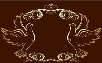 Gold Royal Floral Frame Vector 03