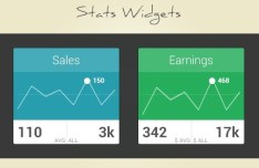 Sales & Earnings Stat Widgets PSD