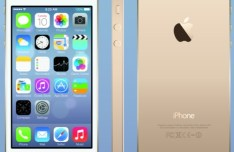 Vector Gold iPhone 5S + PNG iOS 7 Icons