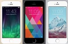 Flat iPhone 5S Template PSD