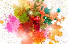Colorful Paint Splash Vector Background 02