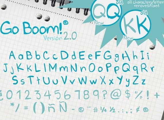 Go Boom Cute Font
