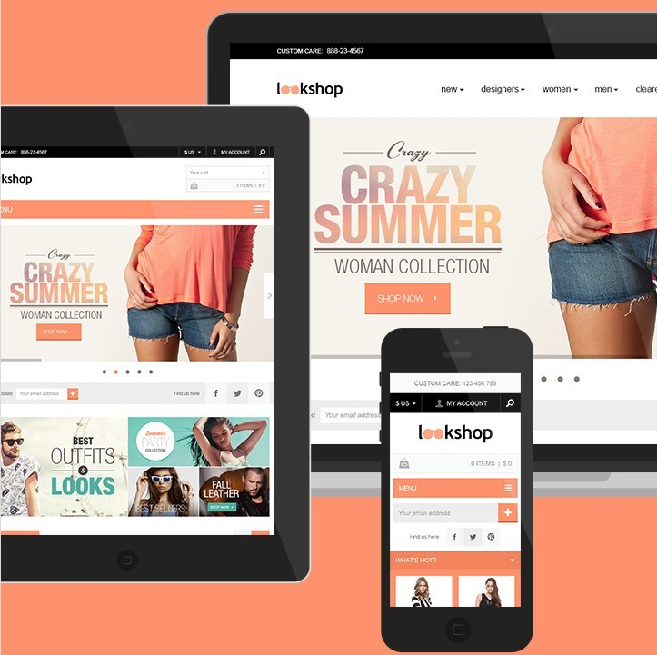 Responsive Website Template Psd: Free Responsive E-commerce Web Template PSD