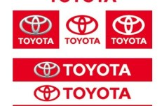 Set Of Toyota Logo Designs Vector