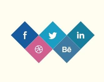 Diamond Social Icons PSD