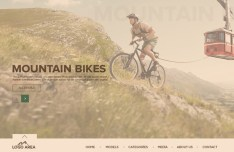 Mountain Bike Website PSD Template