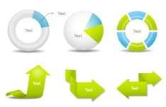 Clean Business Data Statistic Design Elements Vector 01