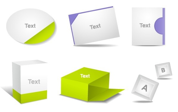 Set Of Clean Product Packaging Boxes Vector