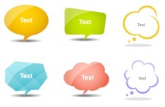 Set Of Lovely Speech Bubbles Vector