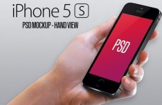 iPhone 5S Hand View Mockup PSD